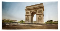 Beach Towel featuring the photograph Arc De Triumph by Hannes Cmarits