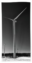 Arcade Wind Turbines 6557 Beach Towel