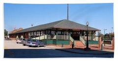 Arcadia Train Station Beach Towel by Gary Wonning