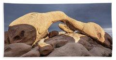 Arch Rock Panorama In Joshua Tree Beach Sheet by Joe Belanger