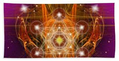 Beach Sheet featuring the digital art Archangel Metatron by Alexa Szlavics