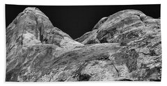 Beach Towel featuring the photograph Arches Abstract Monochrome by Alan Vance Ley