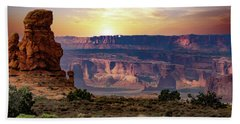 Arches National Park Canyon Beach Towel