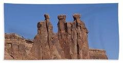 Beach Towel featuring the photograph Arches National Park by Cynthia Powell