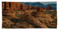 Beach Towel featuring the photograph Arches National Park by Gary Lengyel
