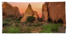 Arches National Park Sunset Beach Towel