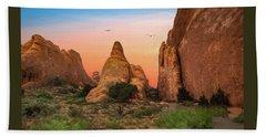 Arches National Park Sunset Beach Towel