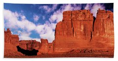 Beach Towel featuring the photograph Arches Pano by Norman Hall