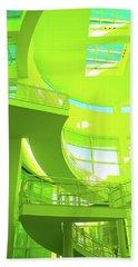 Green Splash Architecture Beach Towel