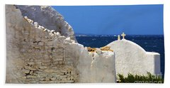 Beach Towel featuring the photograph Architecture Mykonos Greece 2 by Bob Christopher