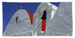 Beach Towel featuring the photograph Architecture Mykonos Greece by Bob Christopher