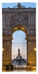 Arco Da Rua Augusta At Sunrise Beach Towel