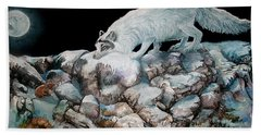 Beach Towel featuring the painting Arctic Encounter by Sherry Shipley