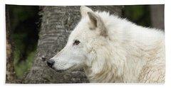 Arctic Wolf - On Watch Beach Towel