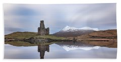 Ardvreck Castle Reflection Beach Towel