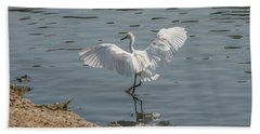 Are You Ready To Dance - Great Egret In Mtn View Ca Beach Sheet