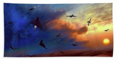 Beach Towel featuring the digital art Area 51 Expanded Version by Dave Luebbert