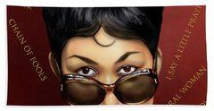 Aretha Franklin Ain't Nothing Like The Real Thing Beach Towel