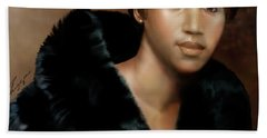 Aretha Franklin Once Upon A Queen Beach Towel