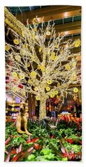 Aria Chinese New Year Of The Dog Gold Money Tree  Beach Towel
