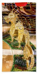 Aria Crystals Chinese New Year Dragon Display Beach Towel