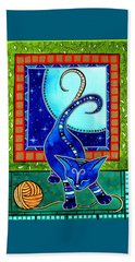 Aries Cat Zodiac Beach Towel