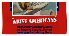 Arise Americans Join The Navy  Beach Towel