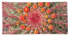 Arizona Barrel Cactus Beach Towel