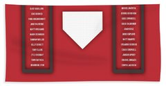 Arizona Diamondbacks Art - Mlb Baseball Wall Print Beach Towel by Damon Gray