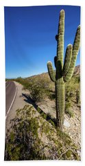 Beach Towel featuring the photograph Arizona Highway by Ed Cilley