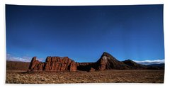 Arizona Landscape At Night Beach Towel
