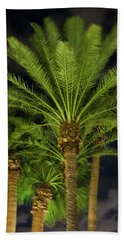 Arizona Palms At Night Beach Towel
