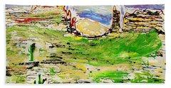 Beach Towel featuring the painting Arizona Skies by J R Seymour