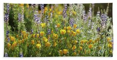 Beach Sheet featuring the photograph Arizona Spring Wildflowers  by Saija Lehtonen