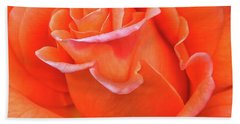 Beach Towel featuring the photograph Arizona Territorial Rose Garden - Orange Flame by Kirt Tisdale