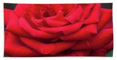 Beach Towel featuring the digital art Arizona Territorial Rose Garden - Red Velvet by Kirt Tisdale