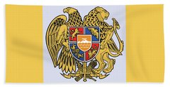 Beach Towel featuring the drawing Armenia Coat Of Arms by Movie Poster Prints