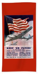 Army Air Corps Recruiting Poster Beach Towel