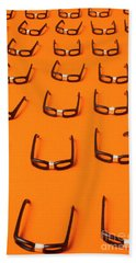 Army Of Nerd Glasses Beach Towel