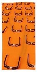 Army Of Nerd Glasses Beach Towel
