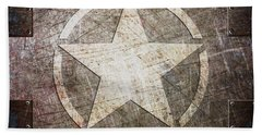 Army Star On Steel Beach Towel