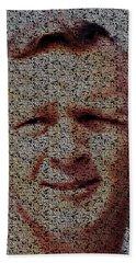 Arnold Palmer Win List Mosaic Beach Towel