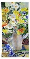 Cut Flowers Beach Towel