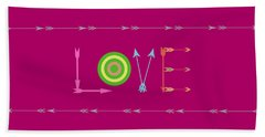 Arrow Love - Changeable Background Color Beach Towel