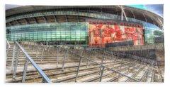 Arsenal Fc Emirates Stadium London Beach Towel
