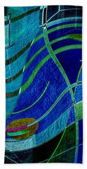 Beach Towel featuring the digital art Art Abstract With Culture by Sheila Mcdonald