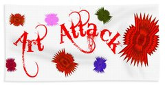 Art Attack  Beach Towel