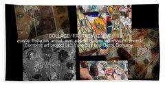 art collage Italy Beach Towel