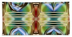 Art Deco 4 Panel Beach Towel