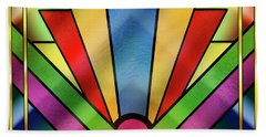 Art Deco Chevron 4 - Chuck Staley Beach Towel by Chuck Staley